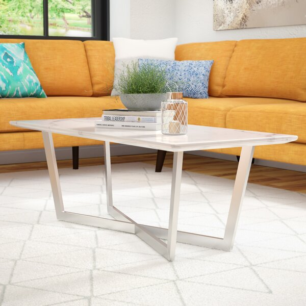 Rosenbalm Faux Marble Coffee Table by Brayden Studio Brayden Studio