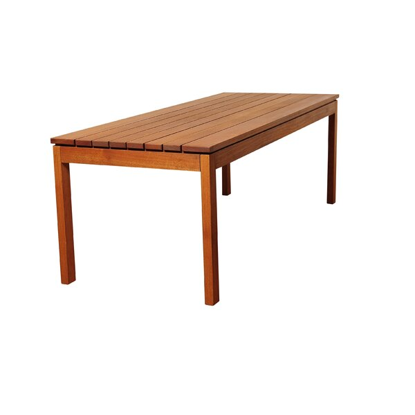Bridgepointe Rectangle Wood Dining Table by Rosecliff Heights