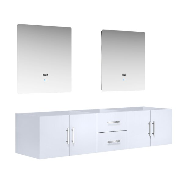 Paulden 79.25 Wall-Mounted Double Bathroom Vanity