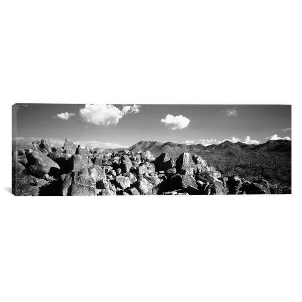 Panoramic Boulders on a Landscape, Saguaro National Park, Tucson, Arizona Photographic Print on Canvas by iCanvas