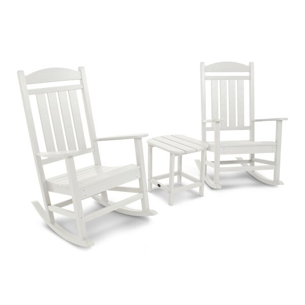 Presidential Rocking Chair 3 Piece Seating Group By POLYWOOD® by POLYWOOD® Sale