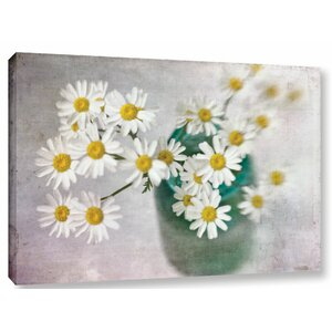 Daisy Still Life Graphic Art on Wrapped Canvas by Charlton Home