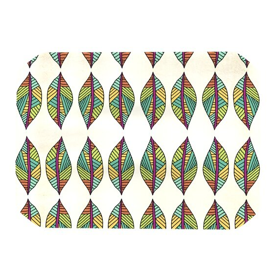 Tribal Leaves Placemat by KESS InHouse