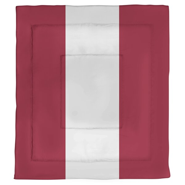 College Stripes Alabama Microfiber Single Reversible Comforter