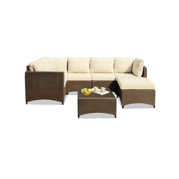 Defranco Modular 6 Piece Sectional Seating Group with Cushions by Highland Dunes