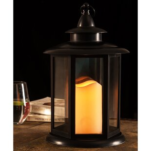 LED Light Battery Operated Plastic Lantern By Charlton Home Outdoor Lighting