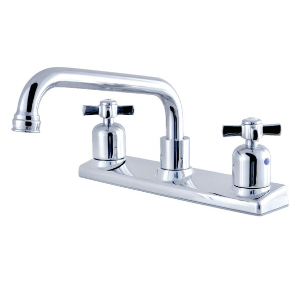 Millennium Pull Out Double Handle Kitchen Faucet by Kingston Brass