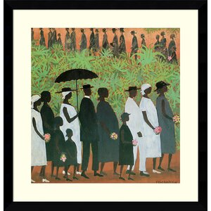 'Funeral Procession' Framed Print on Wood by Bloomsbury Market