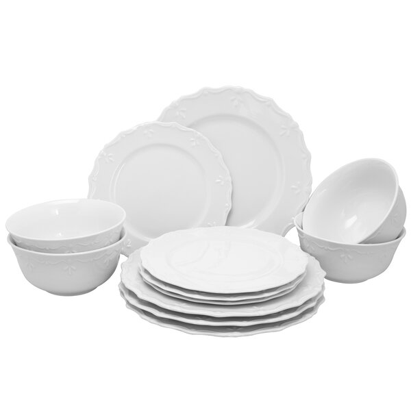 Scallop Buffet 12 Piece Dinnerware Set, Service for 4 by Gibson Home