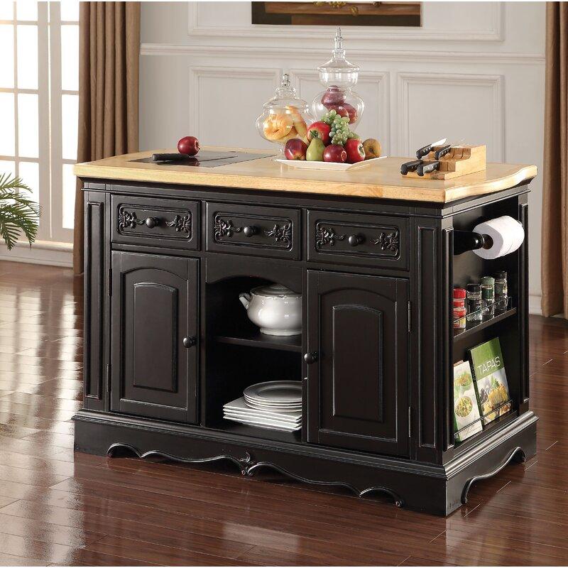 One Allium Way Haney Kitchen Cabinet Wayfair