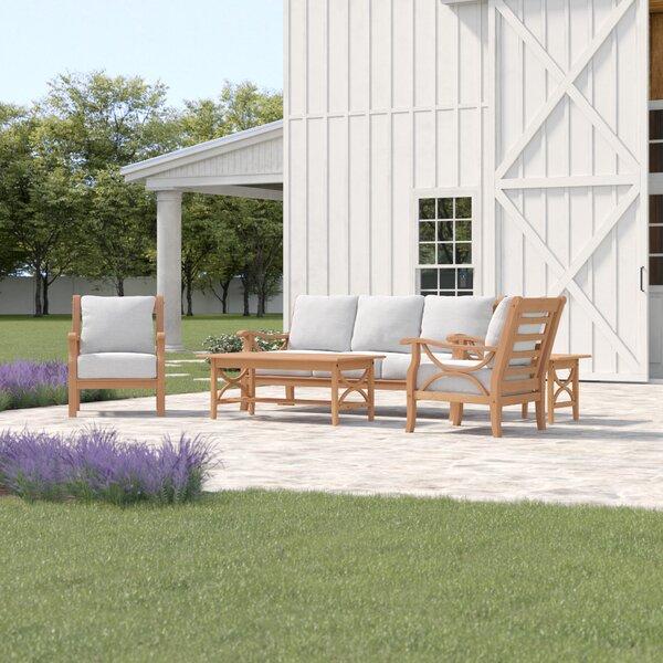 Brunswick 5 Piece Teak Sofa Seating Group with Cushions by Birch Lane™ Heritage