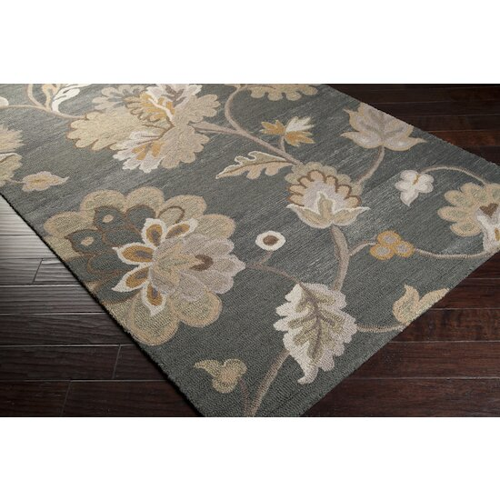 Quincy Handwoven Wool Brown/Cream Area Rug by Charlton Home