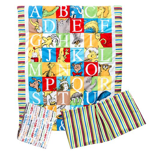 Dr. Seuss Alphabet Seuss 3 Piece Crib Bedding Set by Trend Lab
