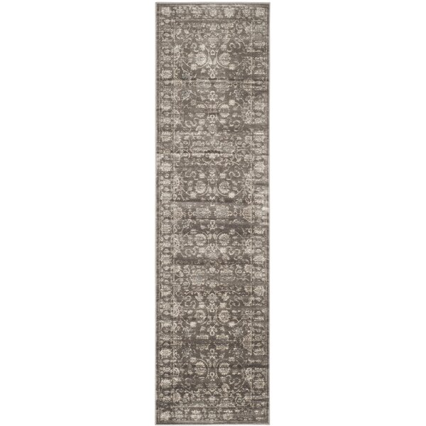 Rindge Brown Floral Area Rug by Charlton Home
