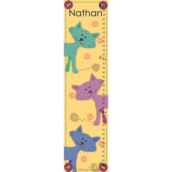 Little Cats Craft Personalized Growth Chart by Green Leaf Art