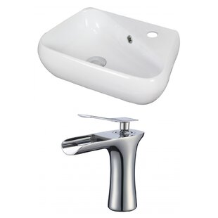 Affordable Specialty Ceramic Specialty Vessel Bathroom Sink with Faucet and Overflow ByAmerican Imaginations