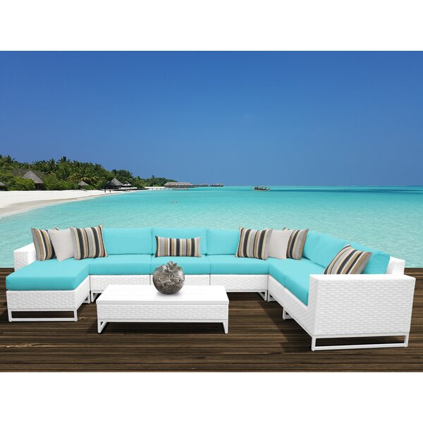 Menifee 9 Piece Sectional Seating Group with Cushions by Sol 72 Outdoor