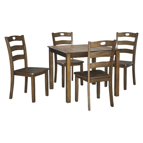 Hedberg 5 Piece Dining Set by Charlton Home