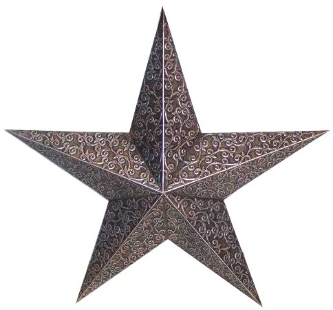 Tin Engraved Star Decorative Slate by Craft Outlet