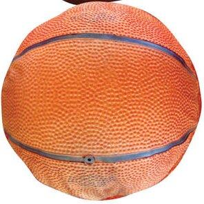 Round Basketball Dog Pillow by Dogzzzz