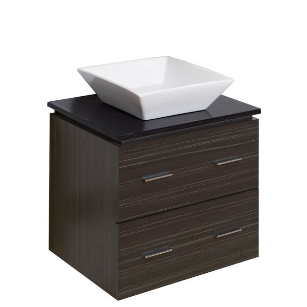 Kaplan Glazed Wall Mount 24 Single Bathroom Vanity Set by Royal Purple Bath Kitchen