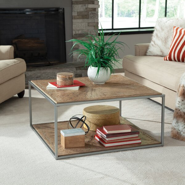 Viraj Floor Shelf Coffee Table with Storage by Foundry Select Foundry Select