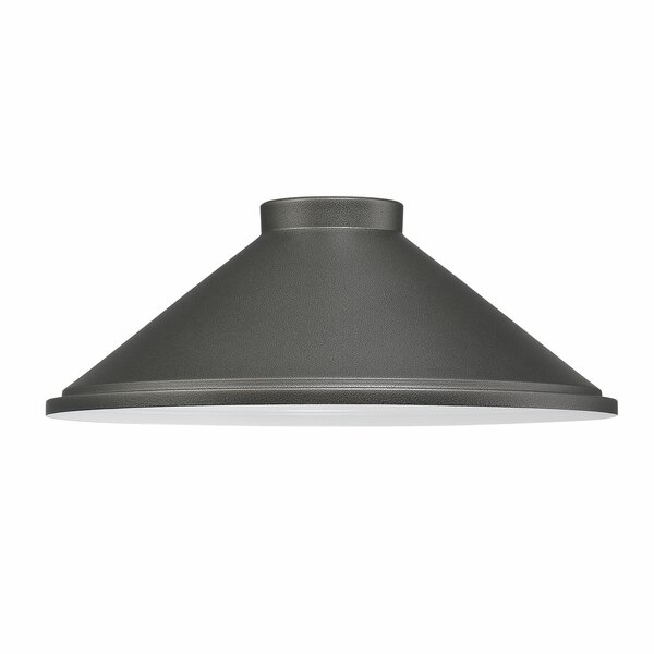 5.25 H Metal Empire Lamp Shade ( Screw On ) in Smoked Iron