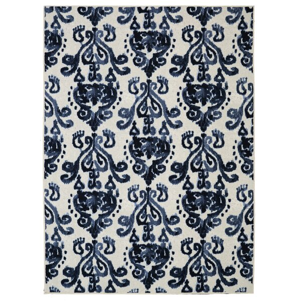 Leonard Blue/Cream Area Rug by Charlton Home
