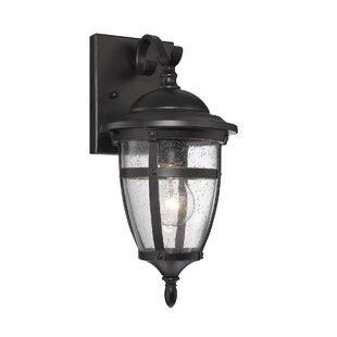 Best Harty 1-Light Outdoor Wall Lantern By Alcott Hill