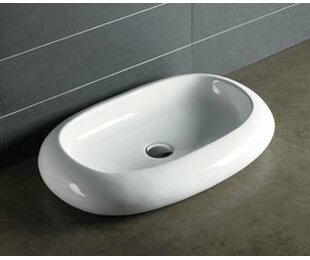 Affordable Ceramic Oval Vessel Bathroom Sink By Novatto