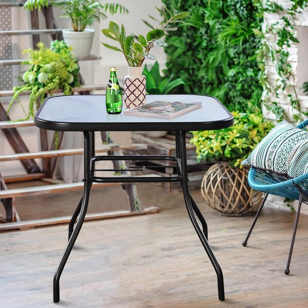 Stagg Glass Dining Table By Winston Porter
