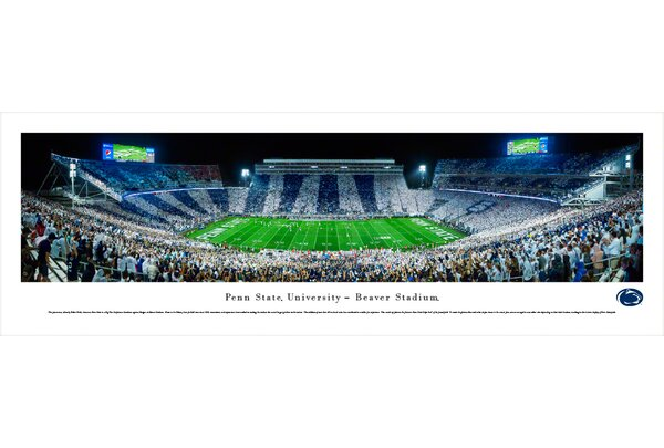 NCAA Penn State University - Stripe by Robert Pettit Photographic Print by Blakeway Worldwide Panoramas, Inc