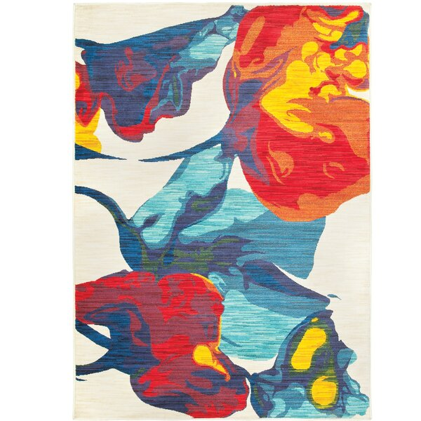 Rarick Beige/Red/Blue Area Rug by Latitude Run