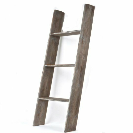 Traditional Wooden 4 ft Decorative Ladder by Foundry Select