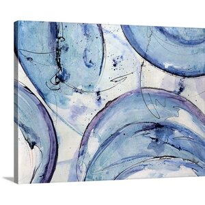 'Aqua Dome' by Farrell Douglass Painting Print on Canvas by Great Big Canvas