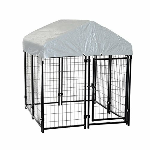Outdoor Covered Dog Yard Kennel by Pawhut