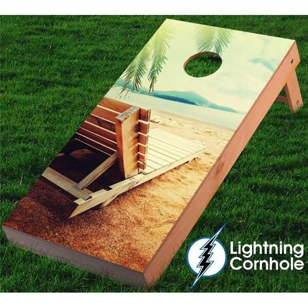 Beach Chair Cornhole Board by Lightning Cornhole