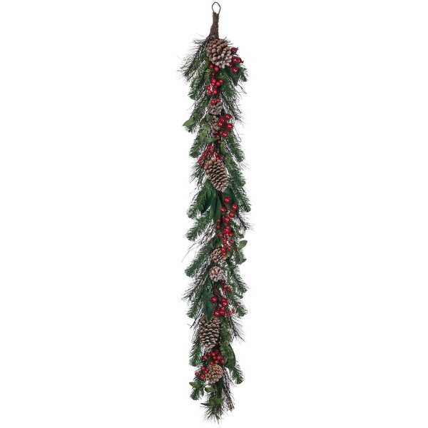 Pine and Magnolia with Berries Garland by The Holiday Aisle