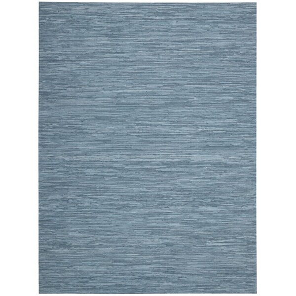 Denieron Hand-Woven Turquoise Area Rug by 17 Stories