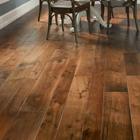 Hudson Bay Random Width Engineered Walnut Hardwood Flooring in Alberta by Albero Valley