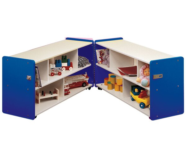 1000 Series Folding 10 Compartment Shelving Unit with Casters by TotMate