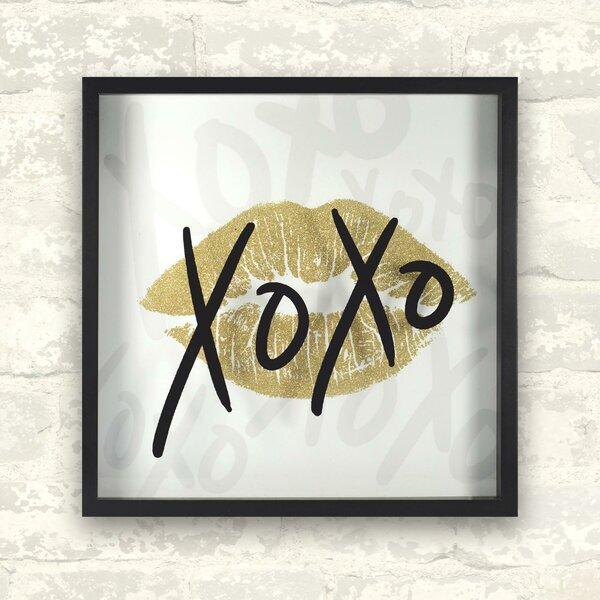 Hallee XOXO Framed Paper Print by Rosdorf Park