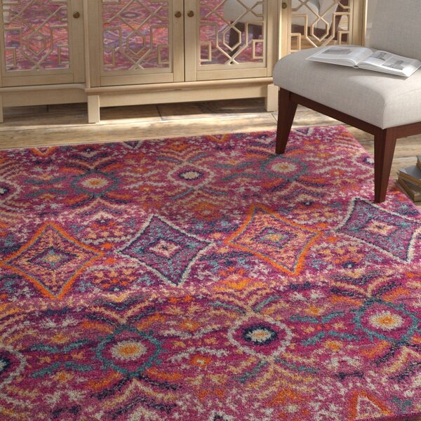 Grieve Fuchsia Area Rug by Bungalow Rose