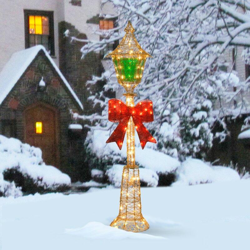 Decorative Décor Pre Lit Lamp Post Christmas Decoration