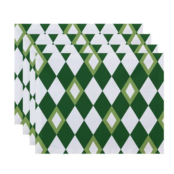 Felice Geometric Print Placemat (Set of 4) by Ivy Bronx