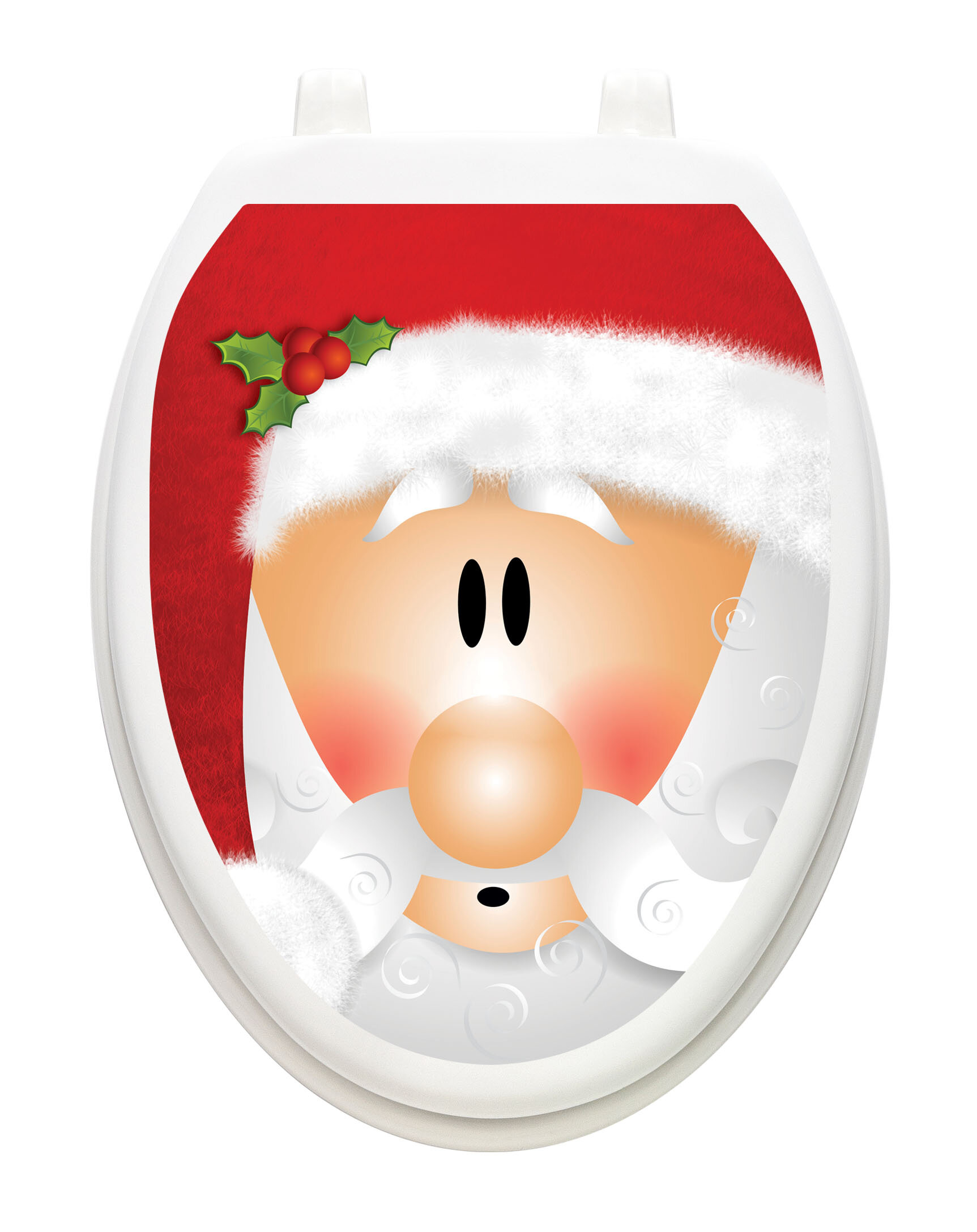 Toilet Tattoos Santa Claus Toilet Seat Decal Reviews Wayfair