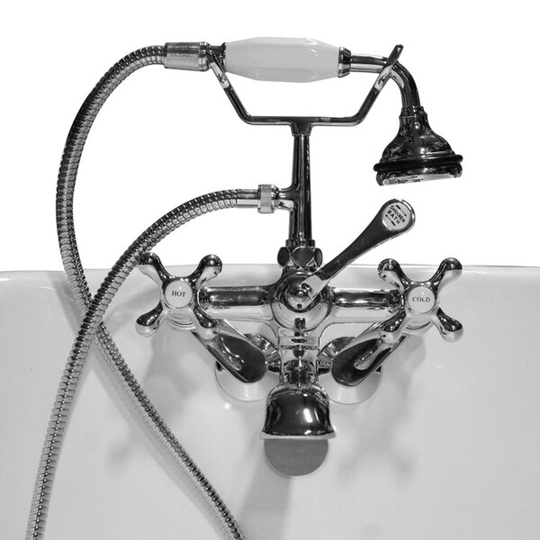 Clawfoot Wall Mount Tub Faucet with Hand Held Shower by Cambridge Plumbing