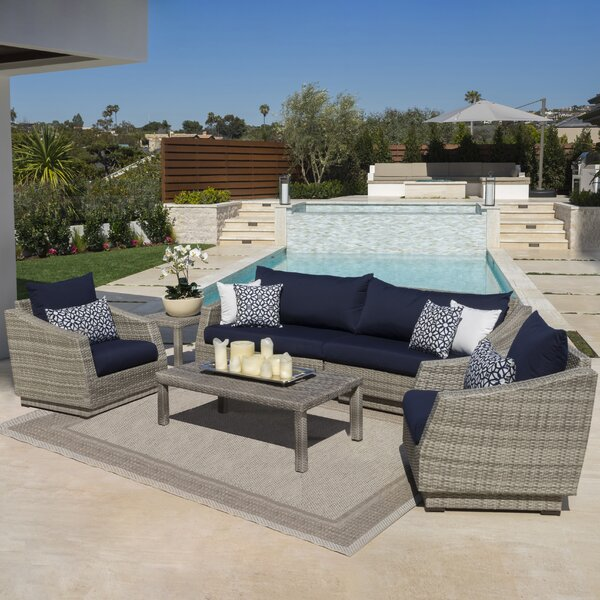 Castelli 6 Piece Sofa Set with Sunbrella Cushions by Wade Logan