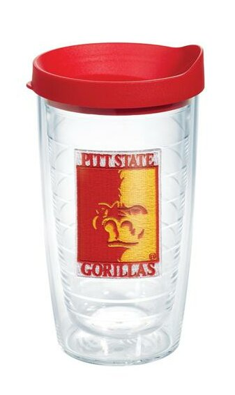 Collegiate Pittsburgh State 16 oz. Plastic Every Day Glass by Tervis Tumbler