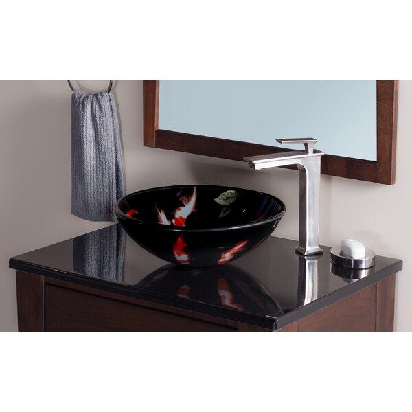 Fiche Glass Circular Vessel Bathroom Sink